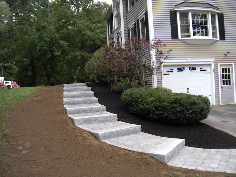 Walkway And Granite Steps