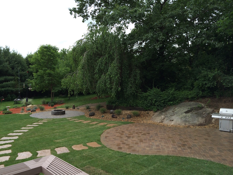Sod, Patio And Planting