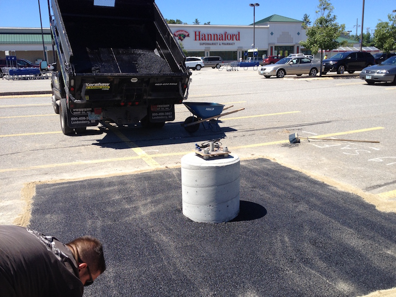 Light Pole Base Repair And Asphalt